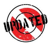 Updated rubber stamp Royalty Free Stock Photo