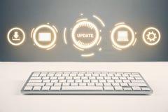 Updateprogramma Zaken, technologie, Internet-concept stock afbeelding
