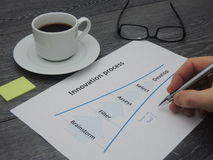 Updating the innovation process Stock Photos