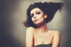 Updo hairstyle Royalty Free Stock Photography