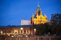 Upenski大教堂赫尔辛基芬兰 免版税图库摄影
