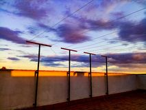 Upfloor захода солнца стоковая фотография rf