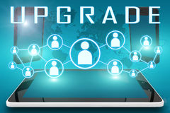 upgrade Photographie stock libre de droits