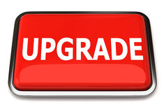 Upgrade button. Isolated on white background Royalty Free Stock Image