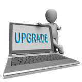 Upgrade Laptop Means Improve Upgrading Or Updating Royalty Free Stock Photography