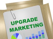 Upgrade Marketing concept. 3D illustration of UPGRADE MARKETING title on business document Royalty Free Stock Photography