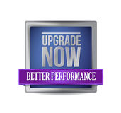 Upgrade now blue shield illustration design Stock Photo