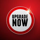 Upgrade now button or label royalty free illustration