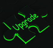 Upgrade Puzzle Showing Updating Versions Royalty Free Stock Image