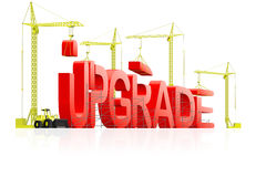 Upgrade upgrading latest software version Royalty Free Stock Photo