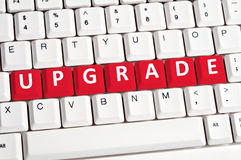Upgrade word on keyboard Royalty Free Stock Images