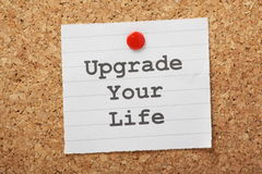Upgrade Your Life royalty free stock image