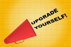 UPGRADE YOURSELF! concept Royalty Free Stock Photos