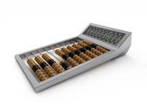 Upgraded abacus. Abacus with metal frame and calculating display Royalty Free Stock Images