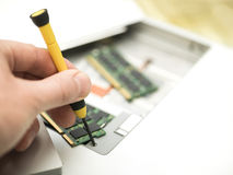 Upgrading Computer Memory Royalty Free Stock Photography