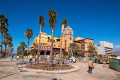 Upgrading pavement in Las Americas on February 23, 2016 in Adeje, Tenerife, Spain. Stock Images