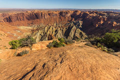 Upheaval dome crater in Canyonlands National Park, USA Stock Images