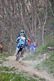 Uphill dirt bikes Royalty Free Stock Photo