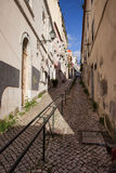 Uphill in Lisbon Royalty Free Stock Photo