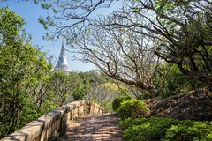 Landscape of Khao wang, Phetchaburi stock photos
