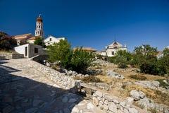 Uphill panorama of Betina Stock Image