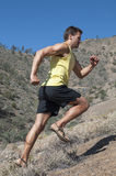 Uphill run Royalty Free Stock Images
