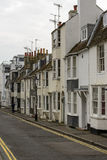 Uphill street at Brighton, East Sussex Royalty Free Stock Image
