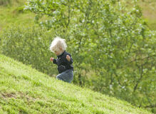 An uphill struggle Stock Images