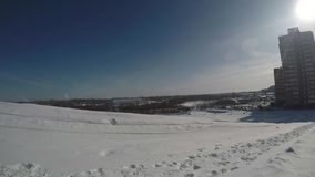 Uphill tubing gopro video stock footage