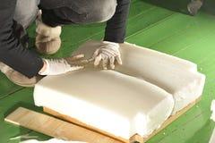 Upholstered pallr. Arkivbilder