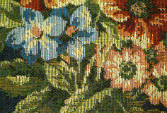 Upholstery. Fabric upholstery closeup of flowers Royalty Free Stock Photos