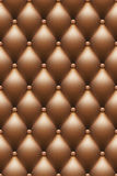 Vector upholstery background. Vector background with brown leather upholstery Royalty Free Stock Images
