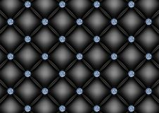 Upholstery background with diamond buttons Royalty Free Stock Image