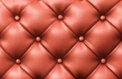 Upholstery background. Genuine red leather upholstery background Stock Photography