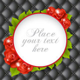 Upholstery background with roses frame Stock Image