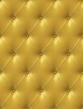 Upholstery de couro dourado Fotografia de Stock Royalty Free