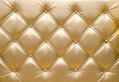 Upholstery dourado Fotografia de Stock