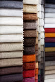 Upholstery fabric samples. Colorful samples of fabric for upholstery Royalty Free Stock Images