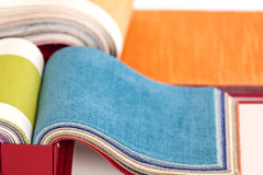 Upholstery fabric samples Stock Photos