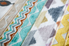 Upholstery fabric samples Stock Photos