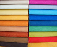 Upholstery samples. Colorful upholstery samples in the shop Royalty Free Stock Images