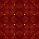 Upholstery seamless pattern with gold buttons Stock Photos