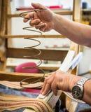 Upholstery. Shot of an upholsterer's workshop Stock Images
