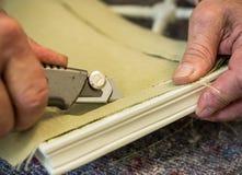 Upholstery. Shot of an upholsterer's workshop Royalty Free Stock Photo