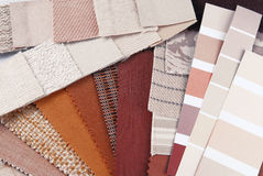 Upholstery tapestry color selection Royalty Free Stock Photography