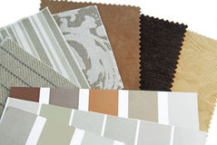 Upholstery tapestry color selection Stock Image