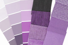 Upholstery tapestry color selection Stock Photography