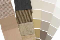 Upholstery tapestry color selection royalty free stock photo