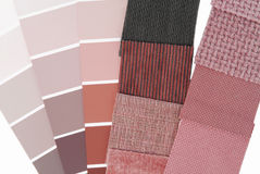 Upholstery tapestry color selection. For interior Royalty Free Stock Photos