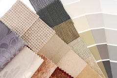 Upholstery  tapestry and curtain color selection Royalty Free Stock Photos